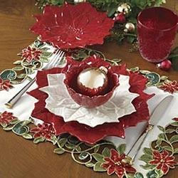 Poinsettia Dinner Plates Love these but I think my husband will kill me if I bring home anymore Christmas dishes. & 228 best DISHES-Christmas Dishes images on Pinterest   Christmas ...