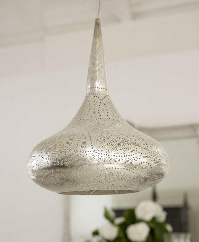 Simple Orientalische Lampen silber graviur kuebel