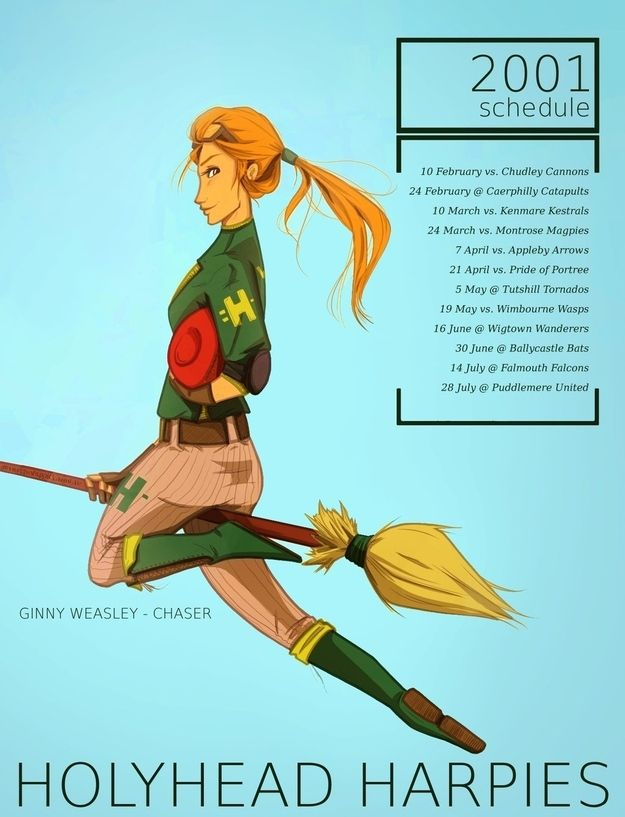 Ginny Weasley became a professional Quidditch player for a few years, then retired to become a Quidditch correspondent for the Daily Prophet.