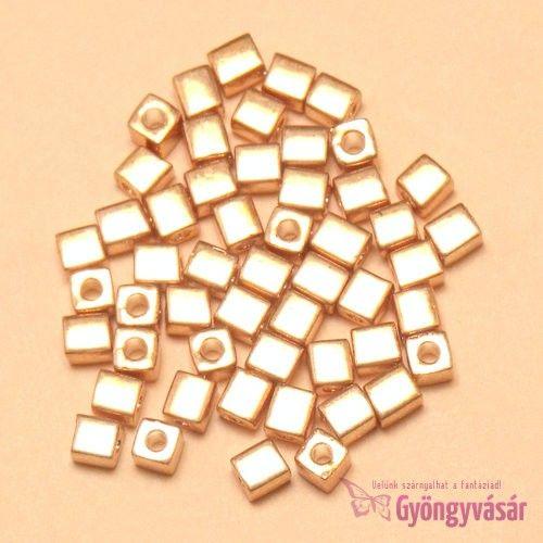1053 - Galvanizált aranyszínű Miyuki kockagyöngy, 4 mm (5 g) • Gyöngyvásár.hu