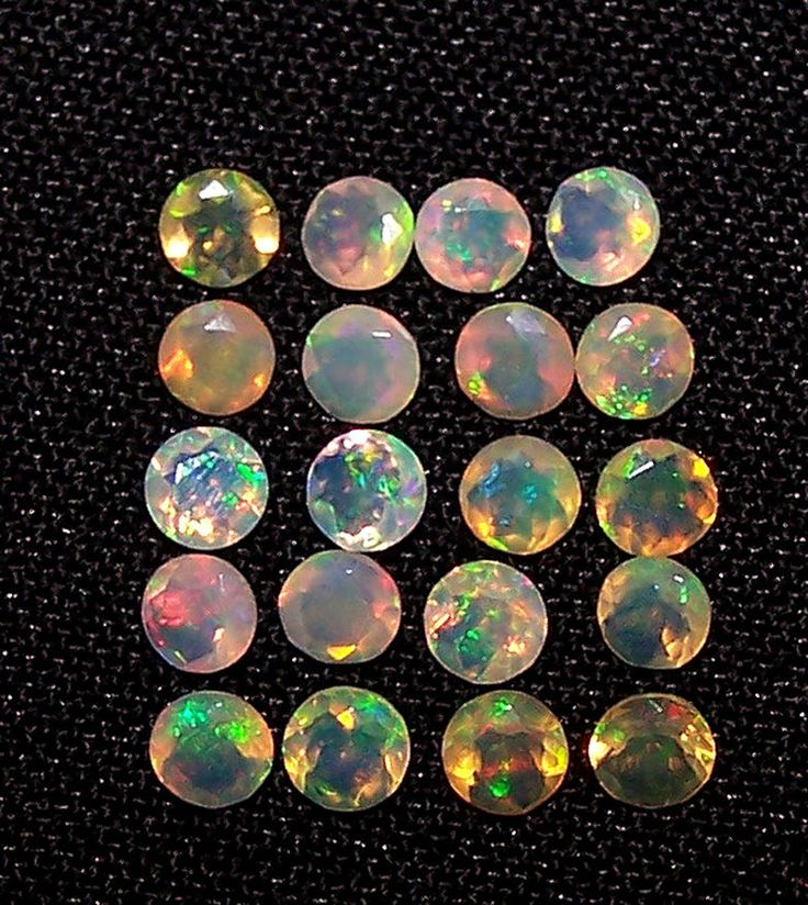 Masterpiece Insane Rainbow Fire Ethiopian Welo Opal 3 MM(1)Faceted Round Gem AAA #ShineStarInternational #SuperUniqueSmoothCalibratedRoundCabochon