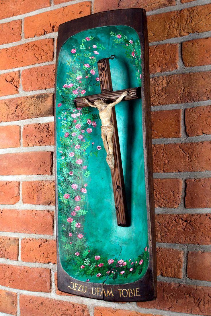 Kapliczka na ceglanej ścianie