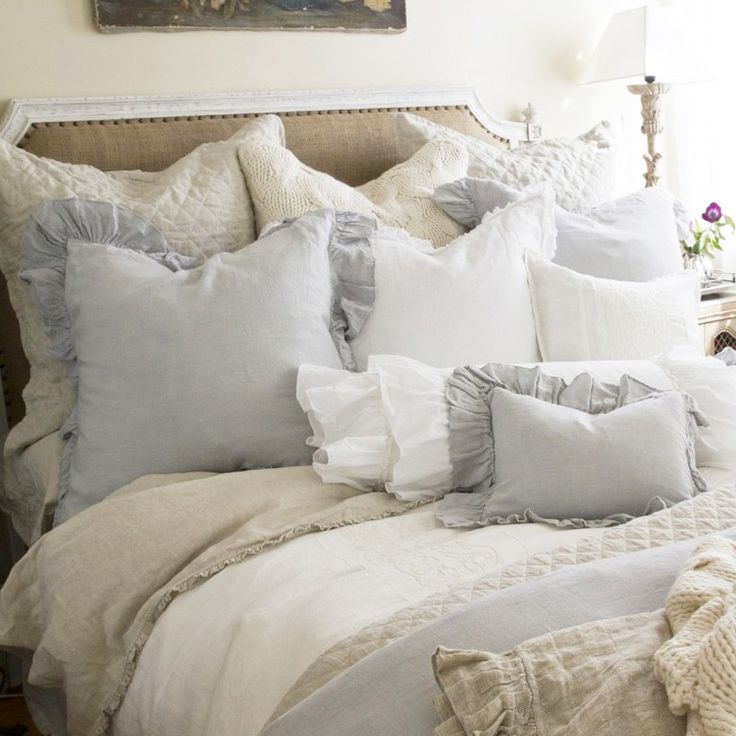 Dive Into This Zen Pool House With Rustic Flair: Pom Pom At Home Bedding Charlie Linen Pillow Sham
