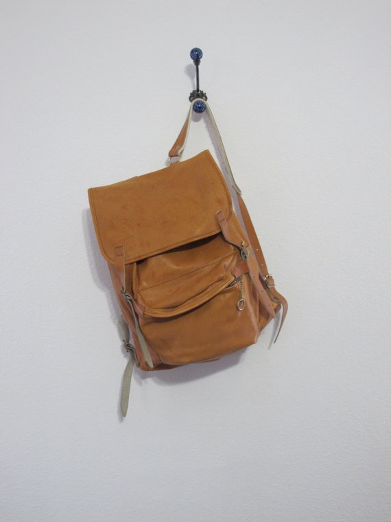 Vintage Leather Backpack / Rucksack Beckmann Norway