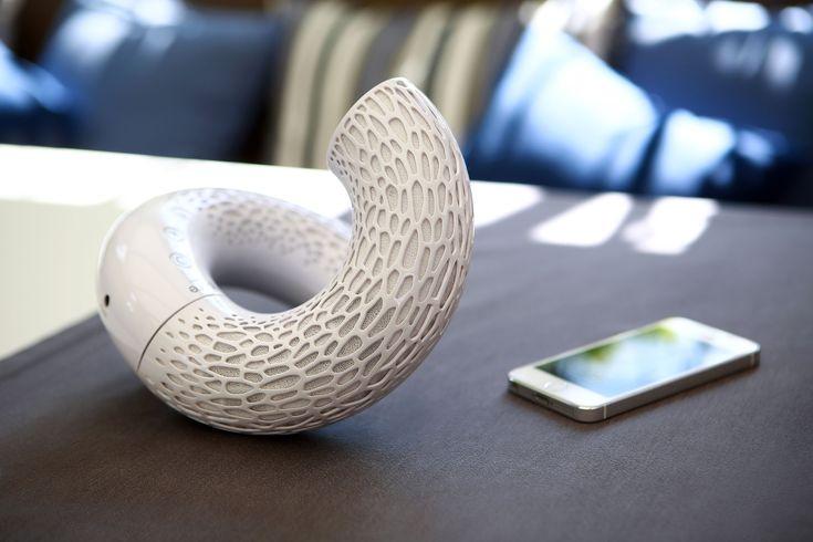 "Portable Bluetooth speaker ""AeroTwist"" by Jarre Technologies. Design by Kateryna Sokolova. http://jarre.com/"