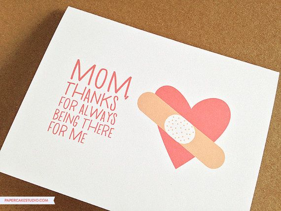 Mother's Day Card  Mother's Birthday Card  Mom by PaperCakeStudio, $5.00
