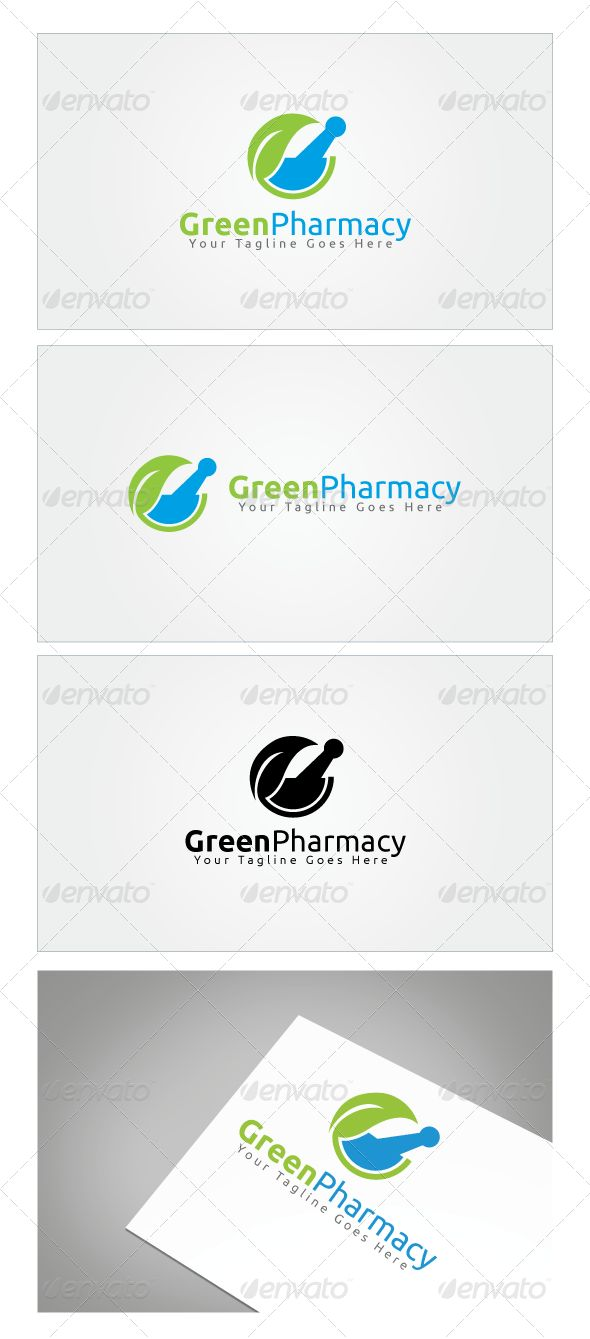 Green Pharmacy Logo Template Graphicriver Ilustrations