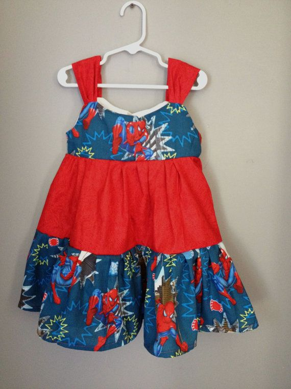 Spiderman Dress by myfunclothes on Etsy