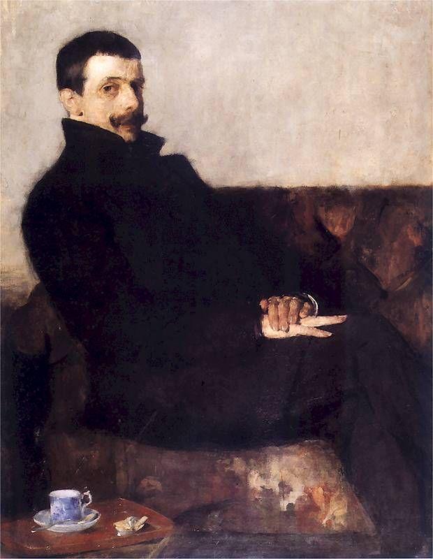 Olga Boznańska 1893 Paul Neuen (Portrait painter Paul Neuen, 1893).
