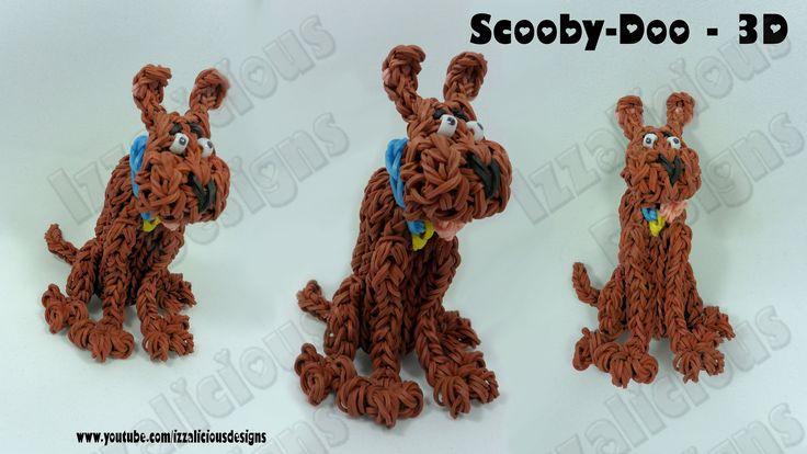 Rainbow Loom Scooby Doo Action Figure/Charm - Gomitas tutorial by Izzalicious Designs (part of Scooby Doo series).