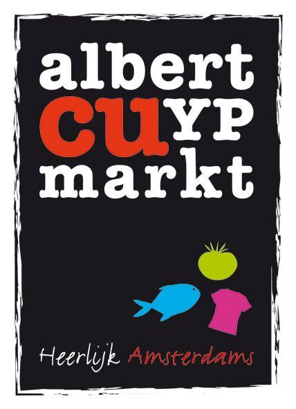 Logo en communicatiemiddelen voor de Albert Cuypmarkt. In samenwerking met Marcel Jansen van Strøm Creative Marketing
