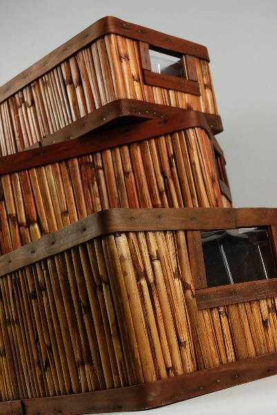 bamboo.....have one kinda like this....need some more