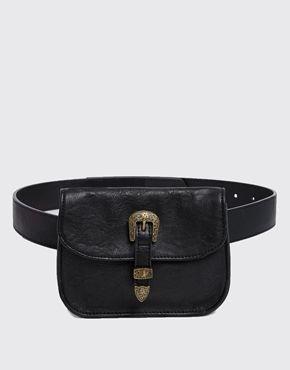 ASOS Waist & Hip Belt With Western Tipped Purse
