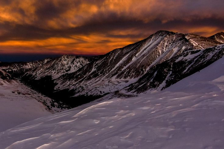 A view of sunset from 13,000ft on Grizzly Peak in Colorado - It was one of coldest hikes I've ever been on  - #funny #lol #viralvids #funnypics #EarthPorn more at: http://www.smellifish.com