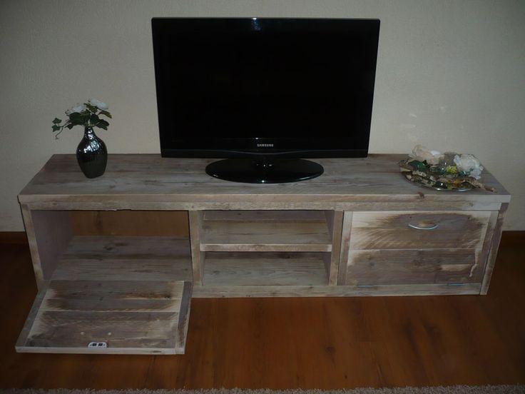 steigerhouten tv/audio meubels