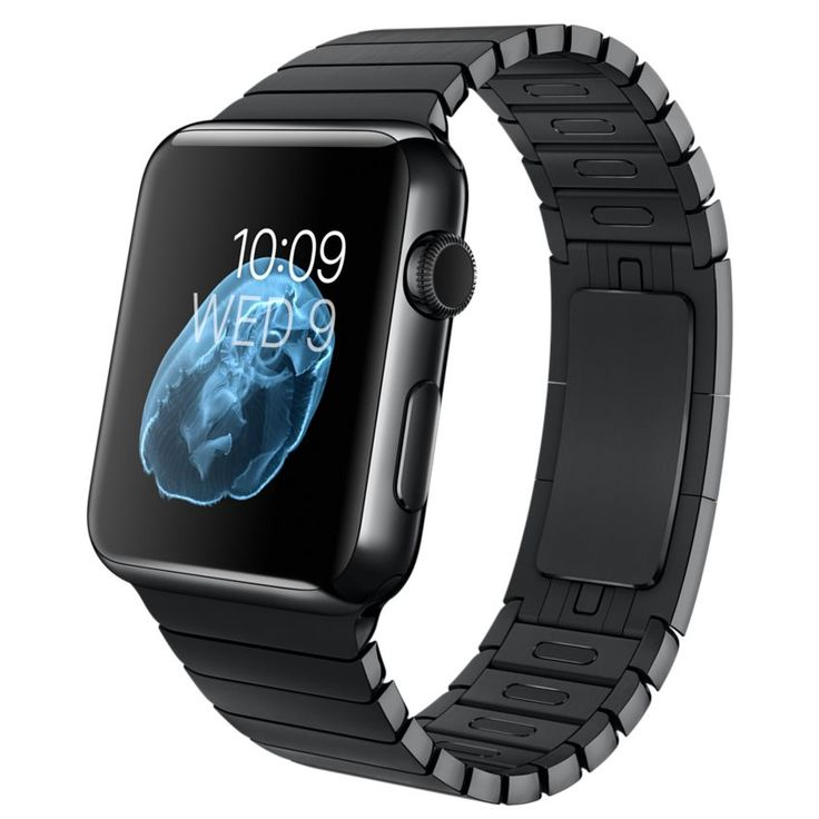 Apple Watch - 42mm Space Black Stainless Steel Case with Space Black Link Bracelet - Apple (UK)