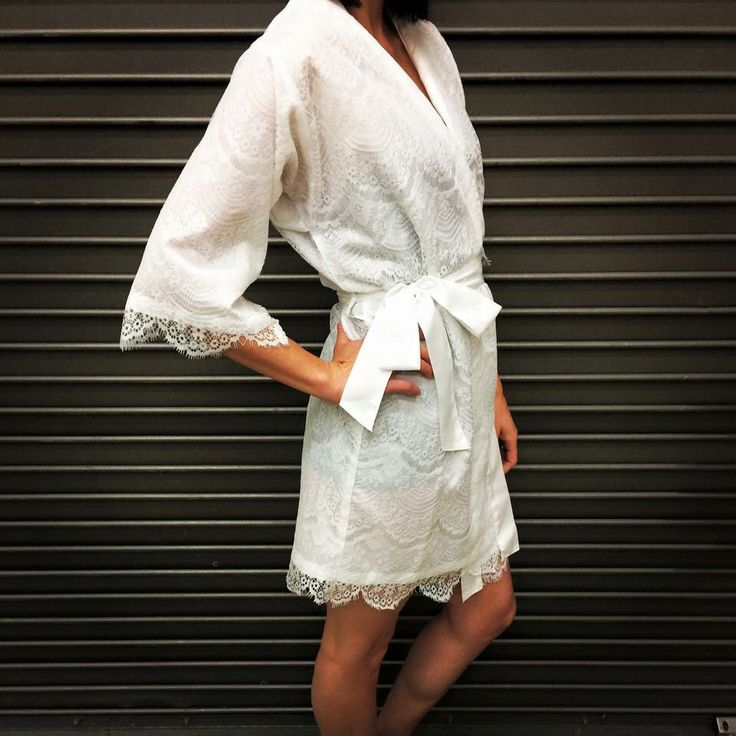 Lace Wedding Robe - Bridal Robe, White Robe, Lace Robe, White Lace Robe, Honeymoon Robe, Bridesmaid Robe, Bridal Party Robe, Bridesmaid Gift by walkinonair on Etsy https://www.etsy.com/listing/224531021/lace-wedding-robe-bridal-robe-white-robe