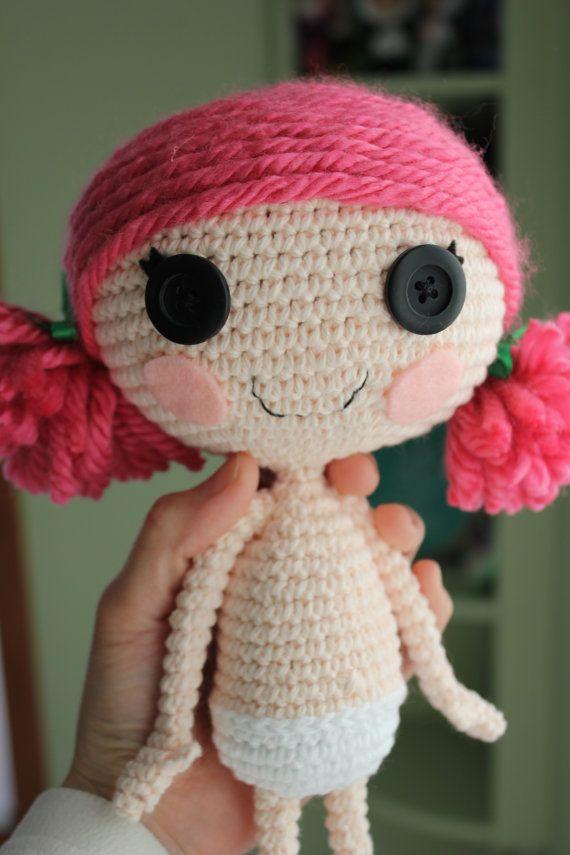 PATTERN Lalaloopsy Crochet Amigurumi Doll by epickawaii on Etsy