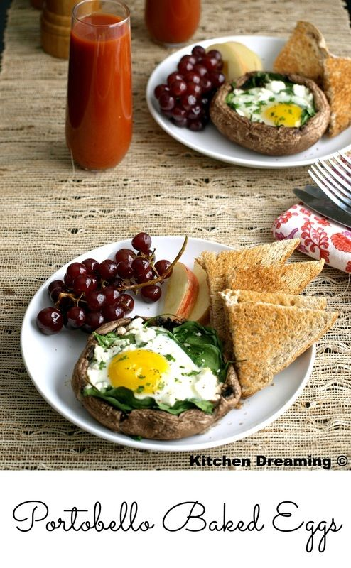 These Portobello Baked Eggs are perfect for many occasions. Many can be prepared at once on a single sheet pan to feed a crowd.