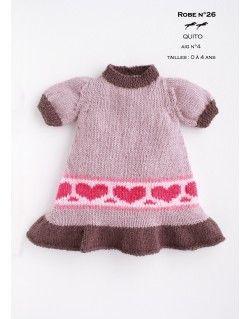 Modèle robe CB17-26- Patron tricot gratuit