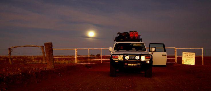 Moonrise over Cordillo Downs Home Paddock