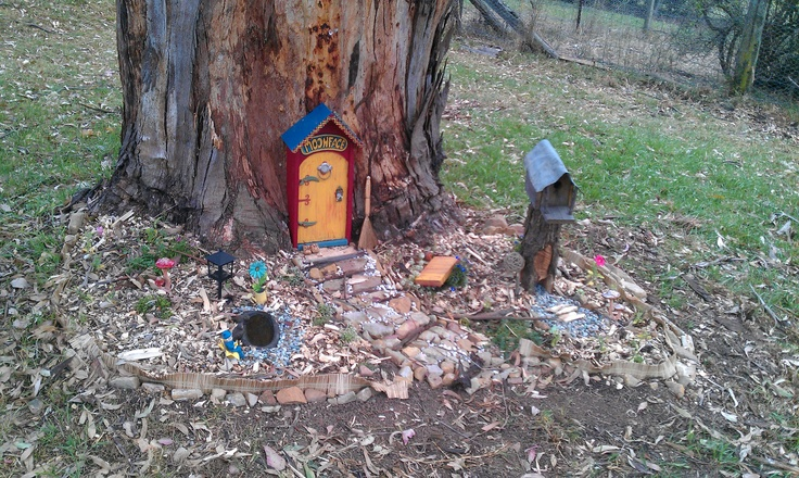 Moonface's front door and the Fairy Garden