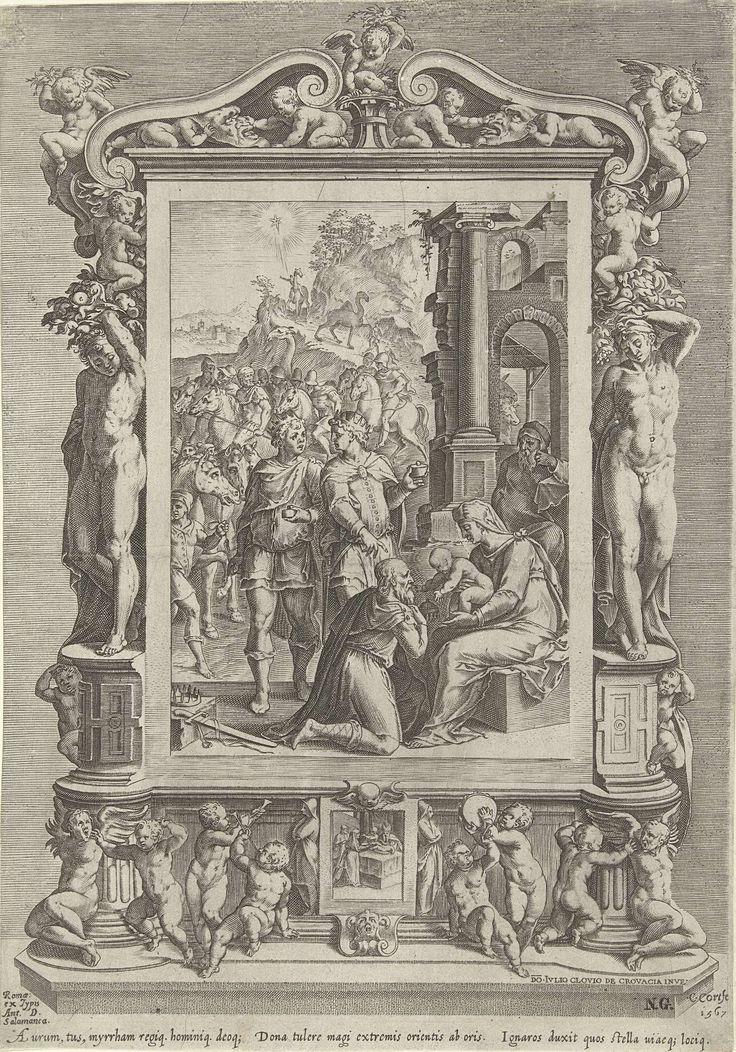 Aanbidding door de koningen, Cornelis Cort, Antonio Salamanca, in or after 1567