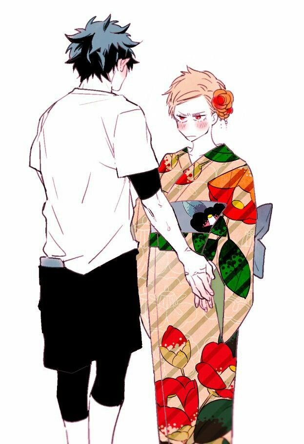 Deku And Kacchan In Kimono Is Cute Dekubaku My Hero Academia Manga Boku No Hero Academia Hero Academia Characters