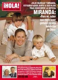 Julio Iglesias: Julio Iglesias y Miranda Rijnsburger,con sus hijos