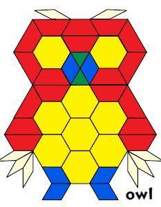 Jessica's Pattern Block Mats (Printables)  free pattern block printables.