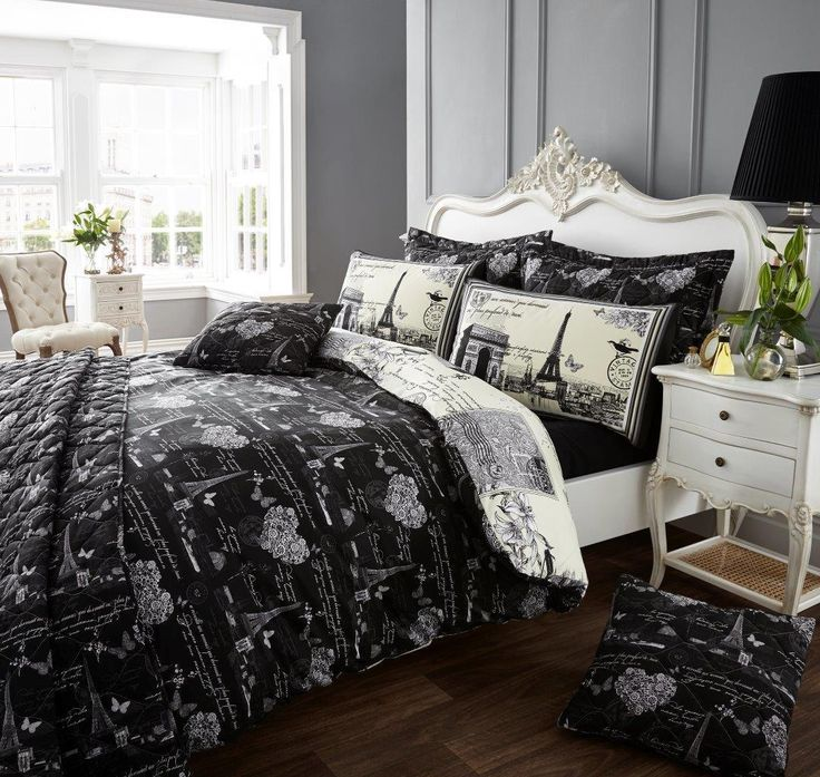 26 best eiffel french style bedroom images on pinterest french style bedding sets and comforter. Black Bedroom Furniture Sets. Home Design Ideas