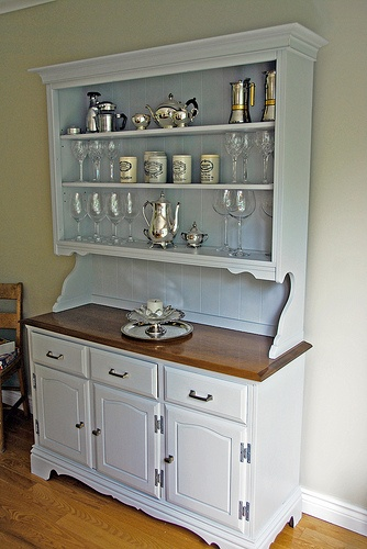 Painted Hutch Beadboard Backing Open Shelves For The