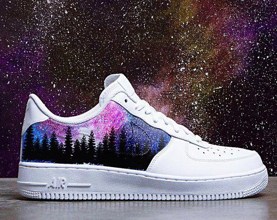custom galaxy air force ones