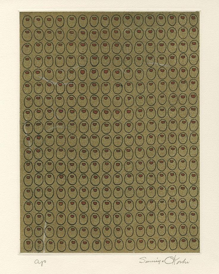 Eugenia Sumiye Okoshi - Two of  a Kind, Woodblock Print, ca. 1960: Eugenia Sumiye, Sumiye Okoshi, Woodblock Print, Drawing, Kind, 1960