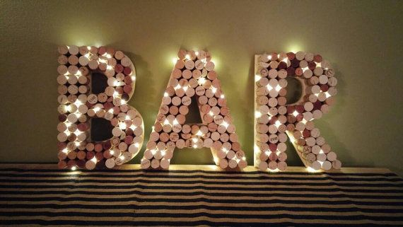 Check out this item in my Etsy shop https://www.etsy.com/listing/286199605/wine-cork-bar-sign-12-letters-pre-lit