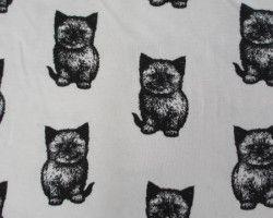 Stenzo tricot cat white/black