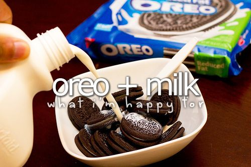 What I'm happy for» Oreo + MilkThoughts, Ideas, Cookies, Colleges Breakfast, Milk, Food, Healthy Breakfast, Oreo, Cereal