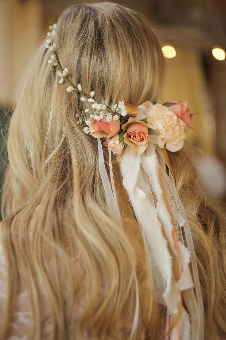 Bridesmaid hair wreath:)