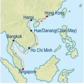 Southbound Asian Allure Itinerary