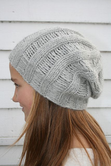 Knit Beanie Pattern Ravelry : Ravelry: Drop Stitch Beanie ...in one evening pattern by Cecilie Oddenes kn...