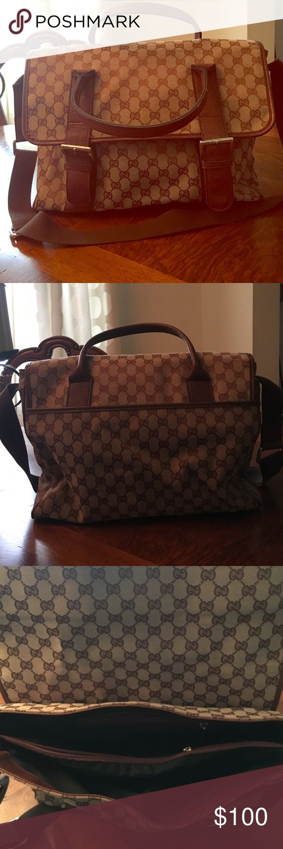 Gently used brown bag Perfect for a diaper bag or a business bag. Thick strap. Gently used. Very good messenger bag . Bags Crossbody Bags