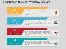 25 beautiful workflow diagram ideas on pinterest process flow four staged business workflow diagram flat powerpoint design toneelgroepblik Images