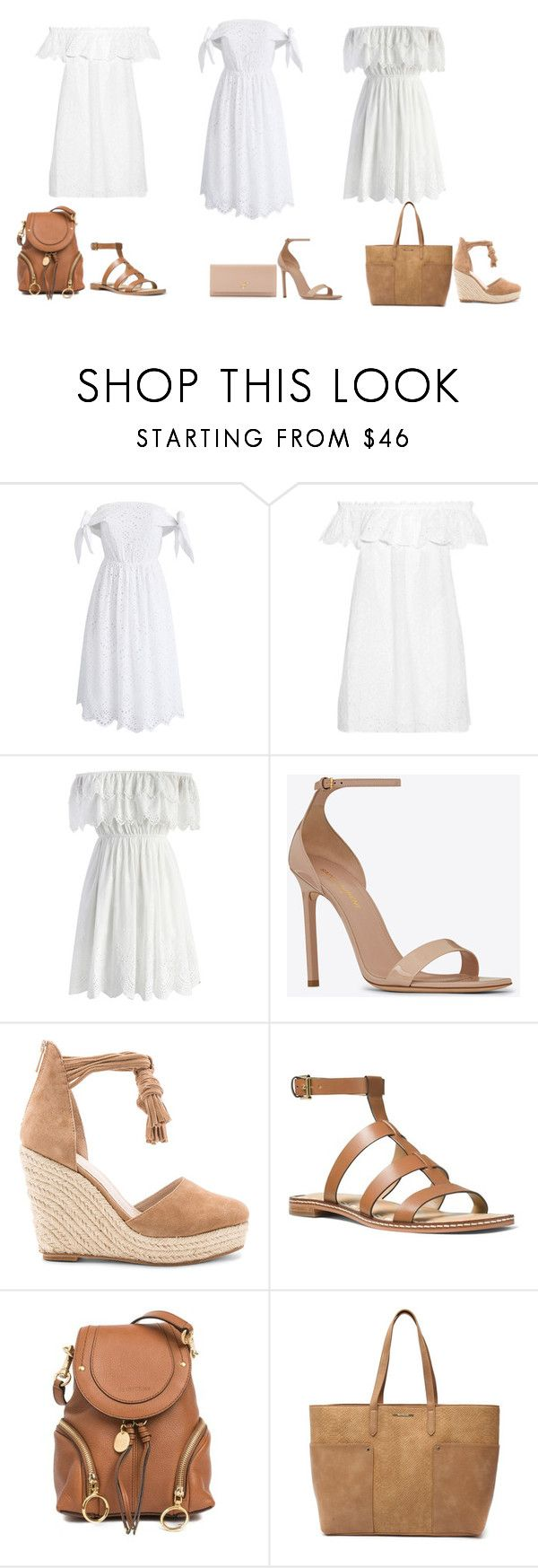 """How to Look Great in Summer Dress"" by olyacreative on Polyvore featuring Chicwish, Tory Burch, Yves Saint Laurent, Raye, MICHAEL Michael Kors, See by Chloé, Tony Bianco and Prada"