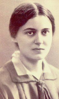 Edith Stein in 1925, died in Auschwitz in 1942.  She had converted from Judaism to Catholicism and became a nun.