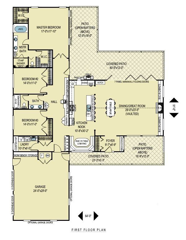 lovely t shaped house plans #1: t shaped house plans | Found on houseplans.com