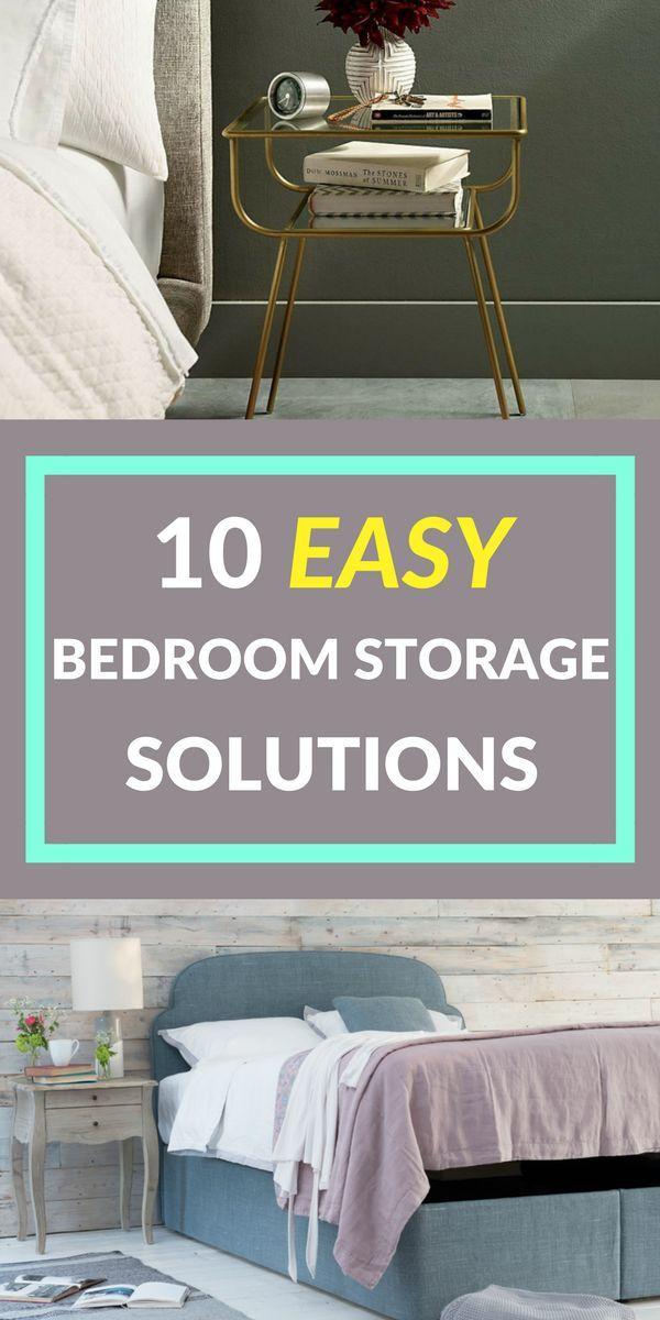 10 einfache Aufbewahrungslösungen für Schlafzimmer. Entschlüsseln Sie Ihr Schlafzimmer und machen Sie es sauber, ordentlich und aufgeräumt. Viele Ideen und Inspirationen für eine clevere Schlafzimmerlagerung, von der Schuhablage über die Wäscherei bis hin zur optimalen Nutzung des Bettraums, unter dem Bett und darin. Klicken Sie sich durch, um mehr zu erfahren. #bedroomstorage #easystorage #implestorage #simplebedroomstorage schlafzimmer sauber machen entschlusseln einfache aufbewahrungslosungen