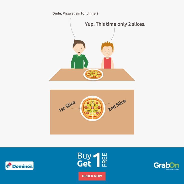 Always Hungry For Pizza? Now Buy One and Get One FREE. 'Cause you can't Say NO to Pizzas...  Order Now - http://www.grabon.in/dominos-coupons/  #Pizza #Dominos #Buy1Get1Pizza