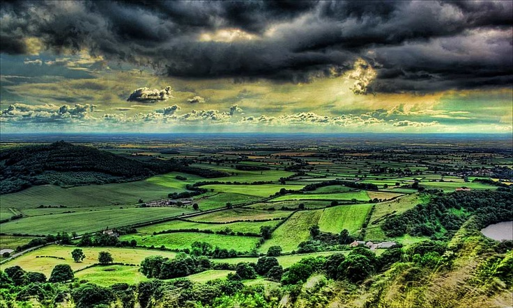 Sutton Bank Yorkshire....you drive around a curve and below you, this beautiful expanse...