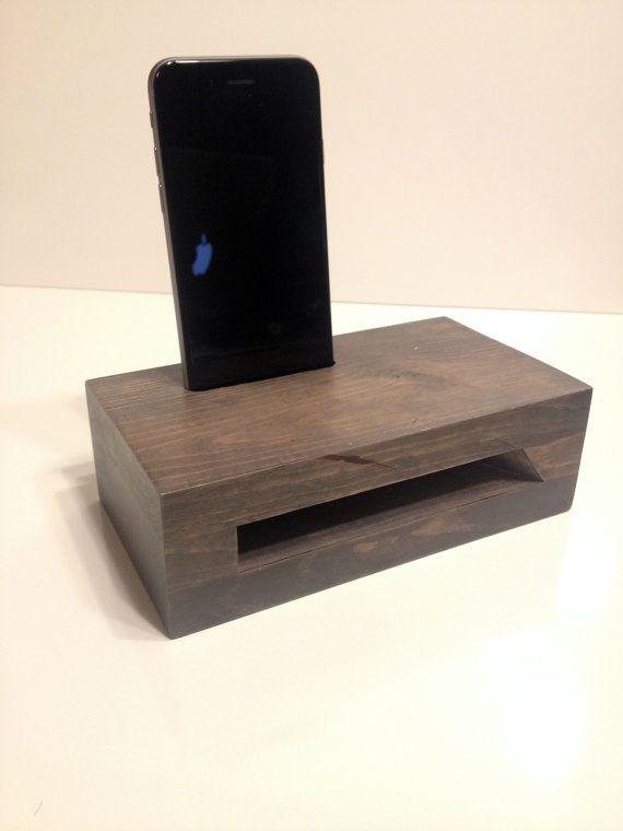 Wooden iPhone Passive Speaker Dock