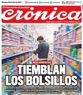 el blog de josé rubén sentís: de la tapa de crónica de hoy: caída de las ventas ...
